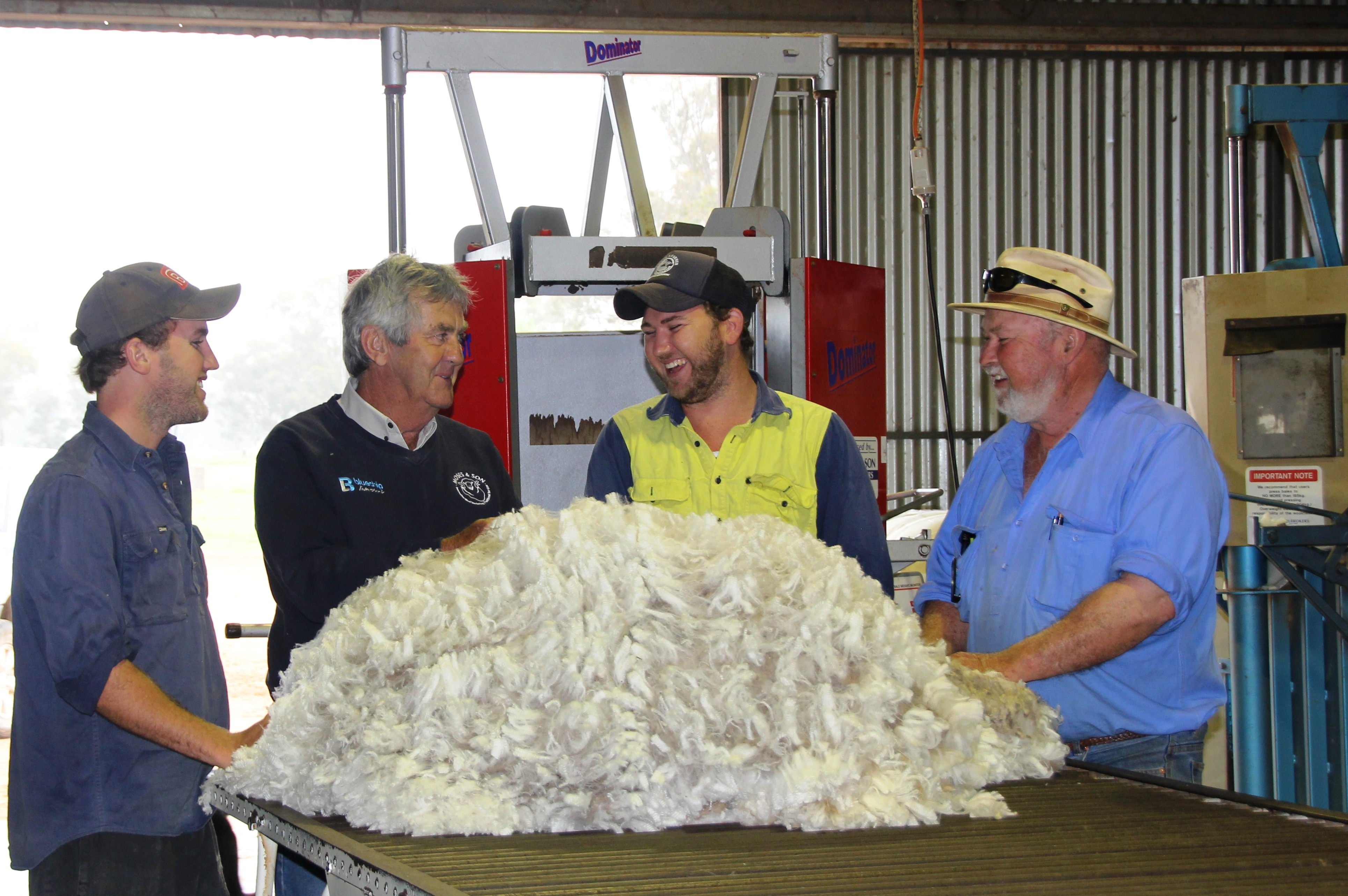 Our Wool Technical Officers will meet with you to discuss your marketing options