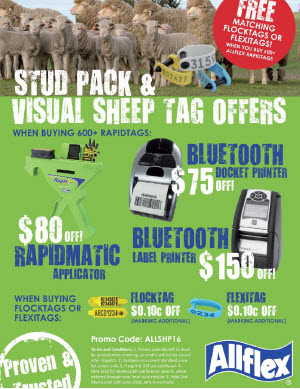 Allflex Stud Packs and Visual Sheep Tag Offers