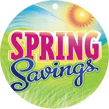 Spring Savings & Promotions