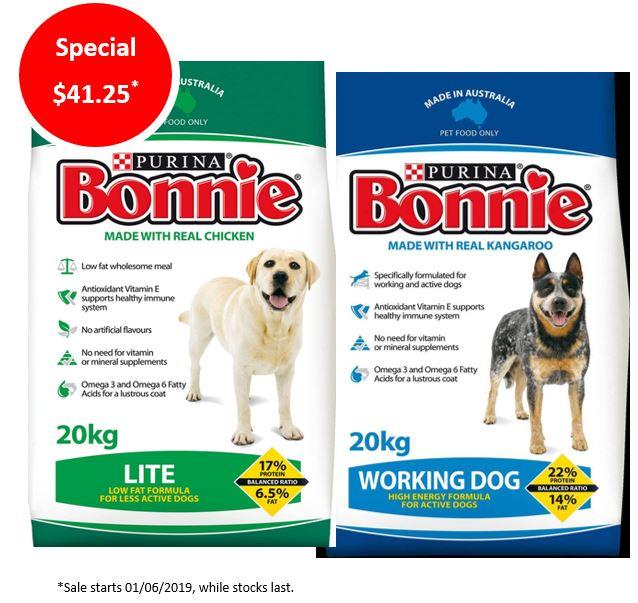 Bonnie Working Dog & Lite Special – $41.25