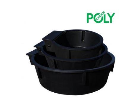 Polymaster Round Water Trough Black