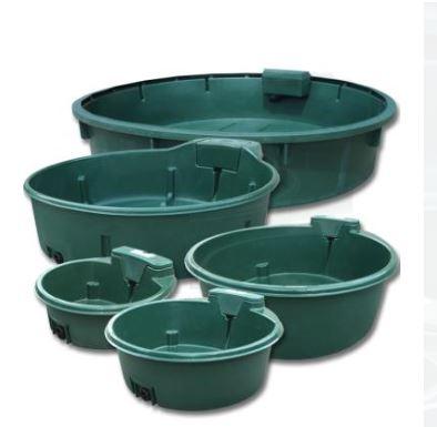 Polymaster Round Water Trough Green